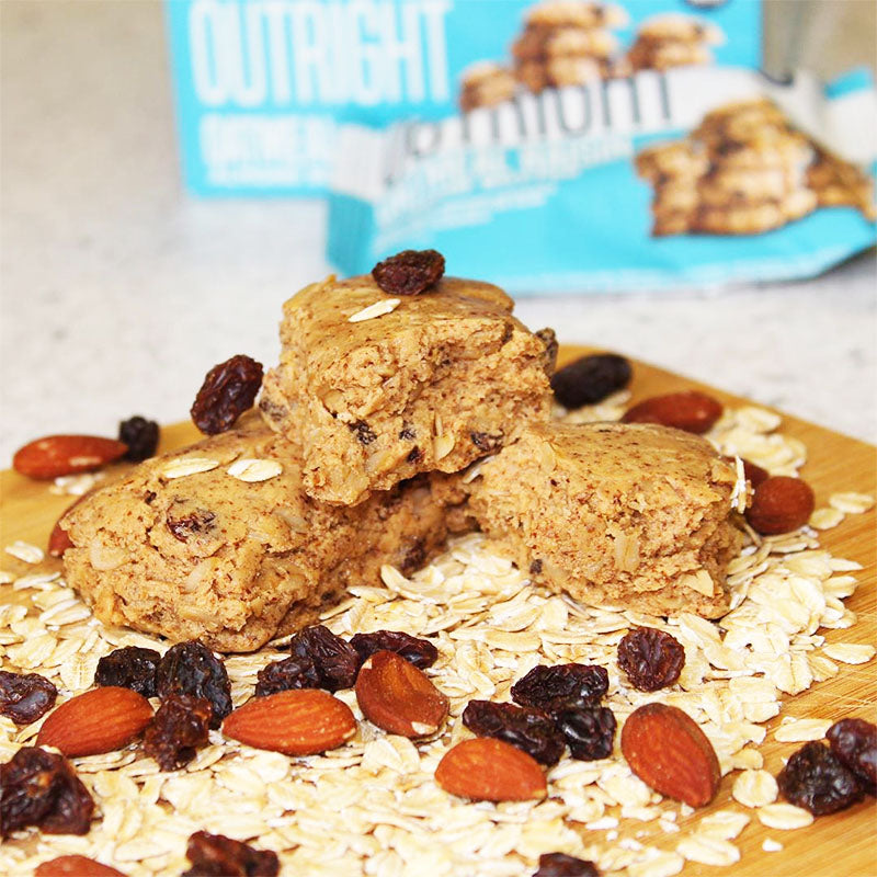MTS Nutrition Outright Bar - Oatmeal Raisin Almond Butter - Box of Protein