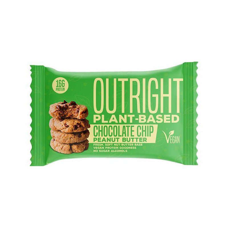 MTS Nutrition Vegan Plant Based Outright Bar - Chocolate Chip Peanut Butter - Box of Protein