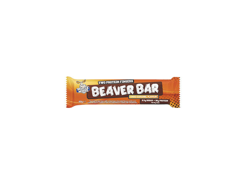Muscle Moose Beaver Bar - Choc Caramel - Box of Protein