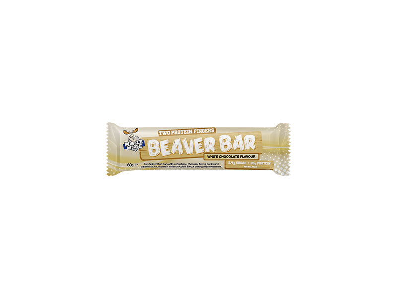 Muscle Moose Beaver Bar - White Chocolate - Box of Protein