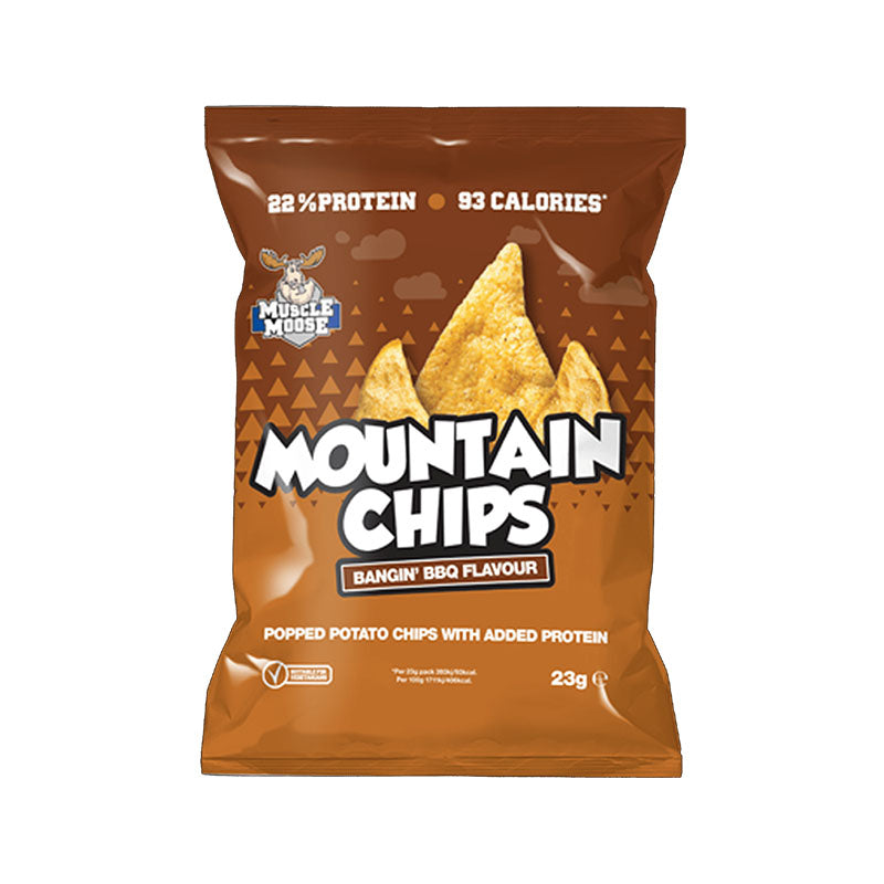 Muscle Moose Mountain Chips - Bangin' BBQ - Box of Protein