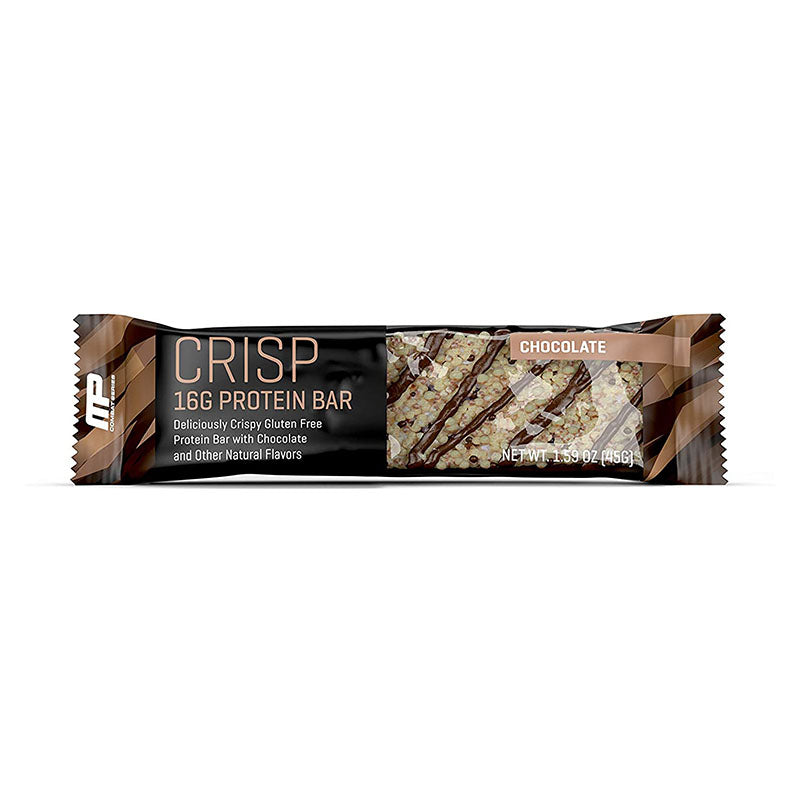 MusclePharm Crisp Protein Bar - Chocolate - Box of Protein