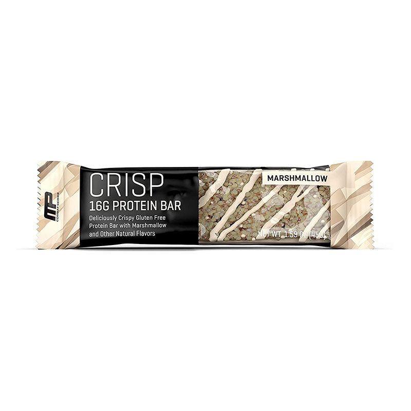 MusclePharm Crisp Protein Bar - Marshmallow - Box of Protein