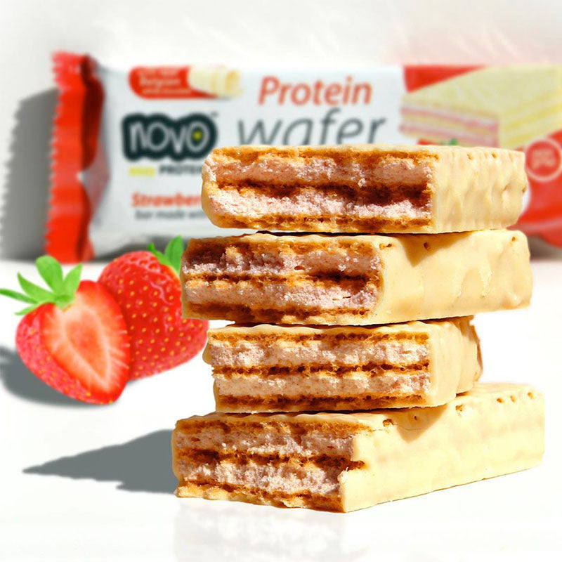 Novo Nutrition Protein Wafer - Strawberries & Cream - Box of Protein