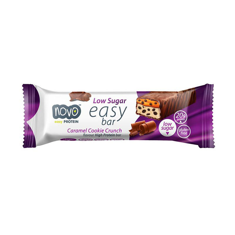 Novo Nutrition Low Sugar Easy Bar - Caramel Cookie Crunch - Box of Protein
