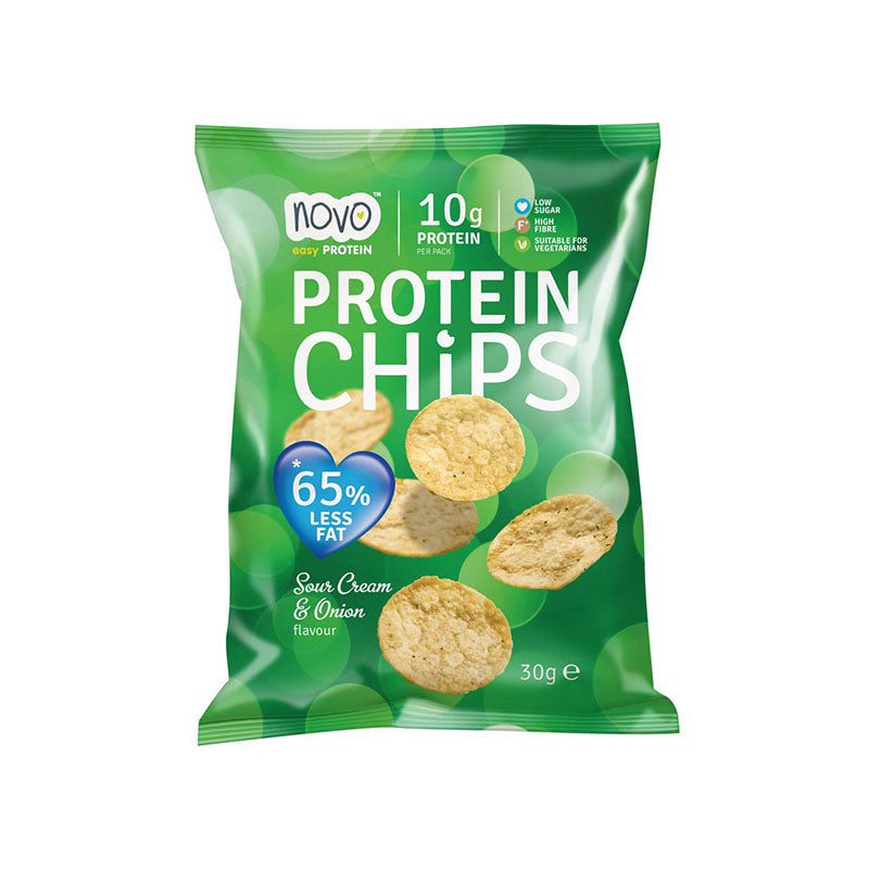 Novo Nutrition Protein Chips - Sour Cream & Onion - Box of Protein