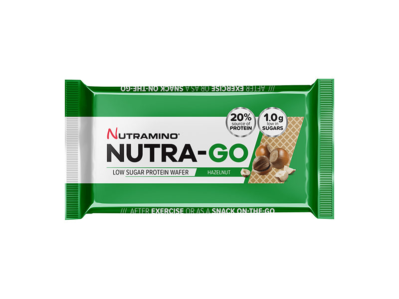 Nutramino Nutra-Go Protein Wafer - Hazelnut - Box of Protein