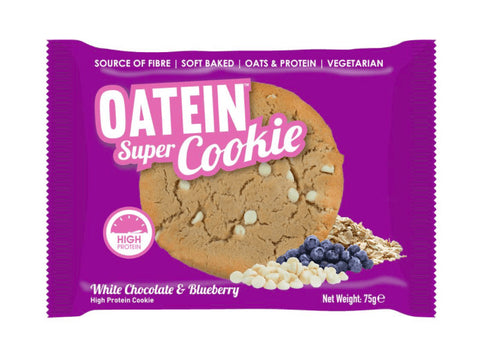 Oatein Super Cookie - White Chocolate & Blueberry (75g) - Box of Protein