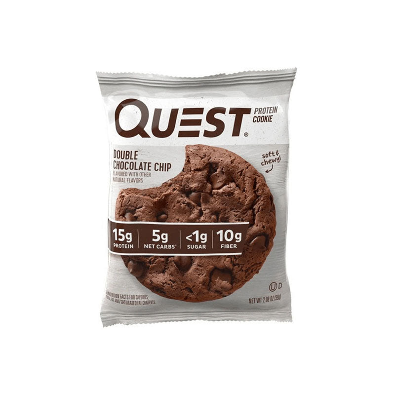 Quest Nutrition Protein Cookie - Double Chocolate Chip - Box of Protein