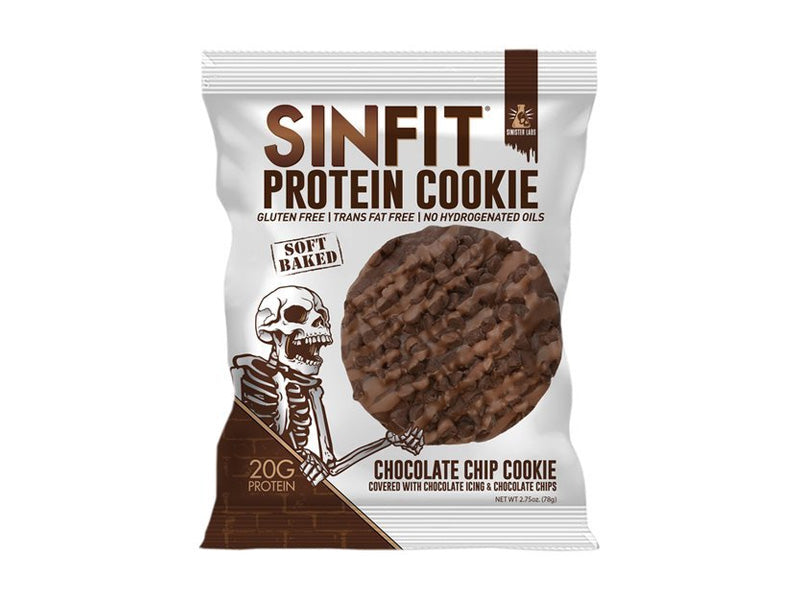Sinister Labs Sinfit Protein Cookie - Chocolate Chip - Box of Protein