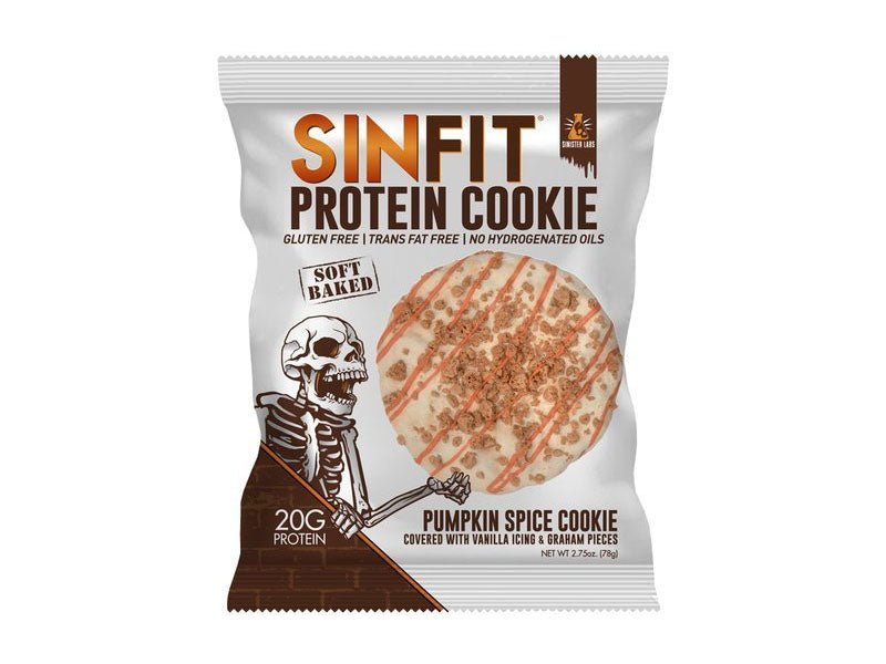 Sinister Labs Sinfit Protein Cookie - Pumpkin Spice - Box of Protein