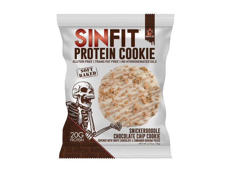 Sinister Labs Sinfit Protein Cookie - Snickerdoodle Chocolate Chip - Box of Protein
