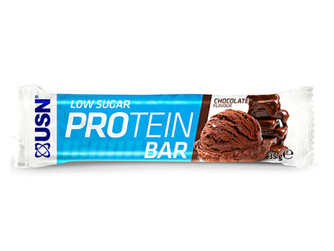 USN Low Sugar Protein Bar - Chocolate (35g) - Box of Protein