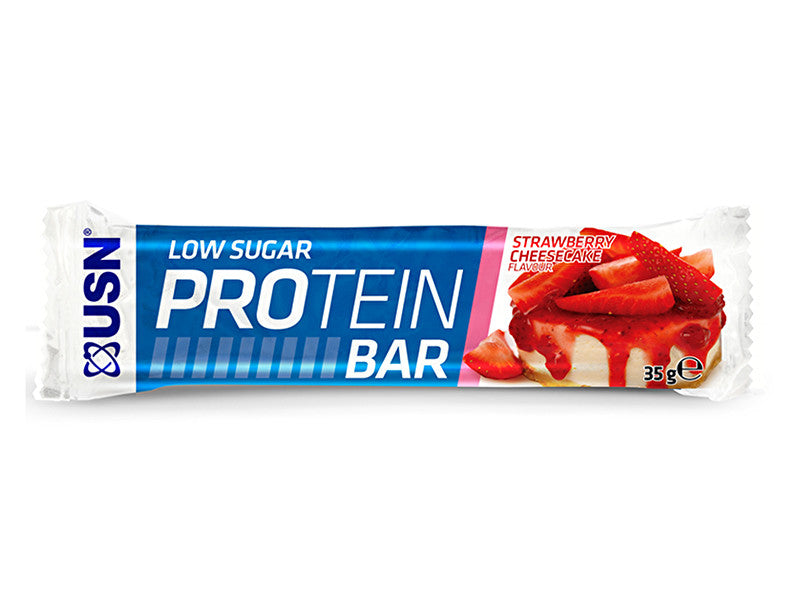 USN Low Sugar Protein Bar - Strawberry Cheesecake - Box of Protein