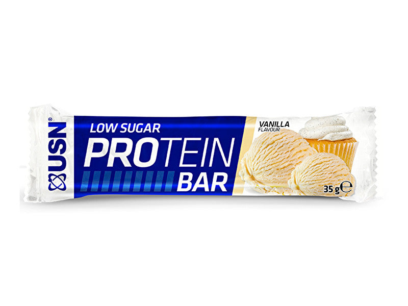 USN Low Sugar Protein Bar - Vanilla - Box of Protein