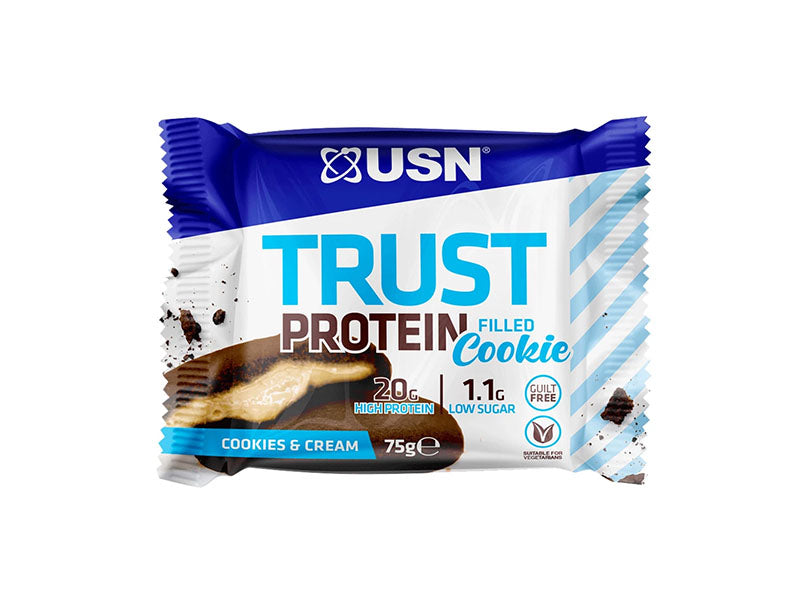 USN Trust Protein Filled Cookie - Cookies & Cream - Box of Protein