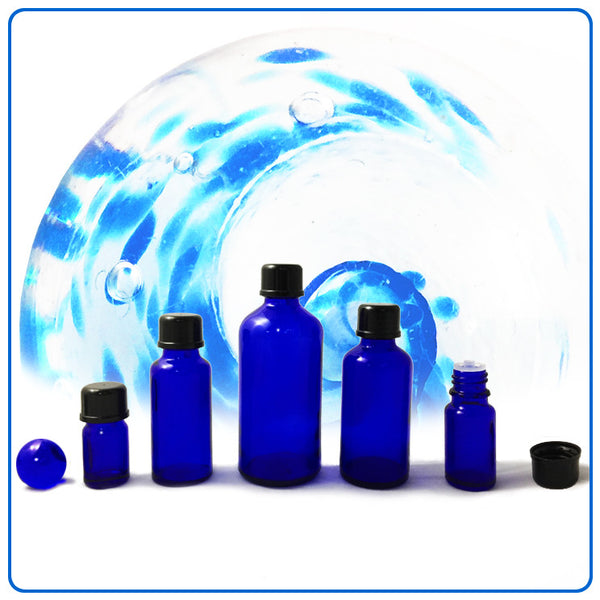 Blue Glass Bottle - 50ml