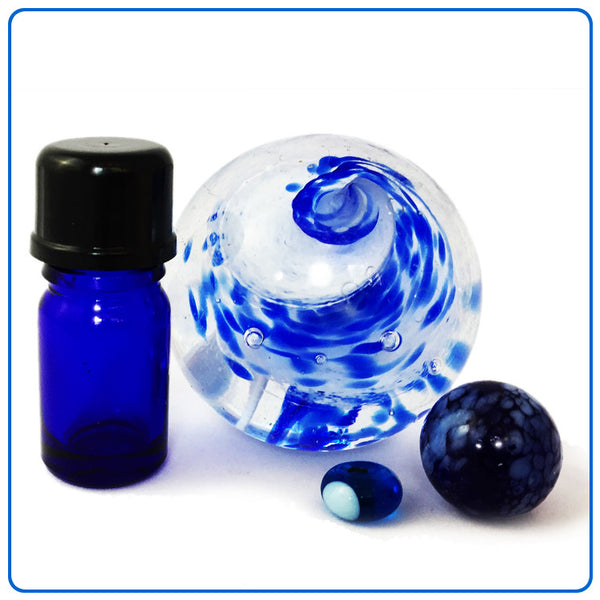 Blue Glass Bottle - 5ml