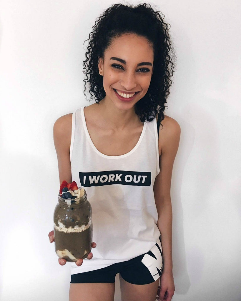 'I Work Out' Tank