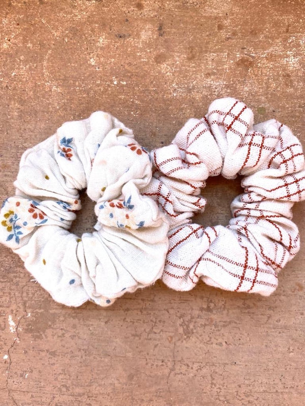 Scrunchie Rustic Check