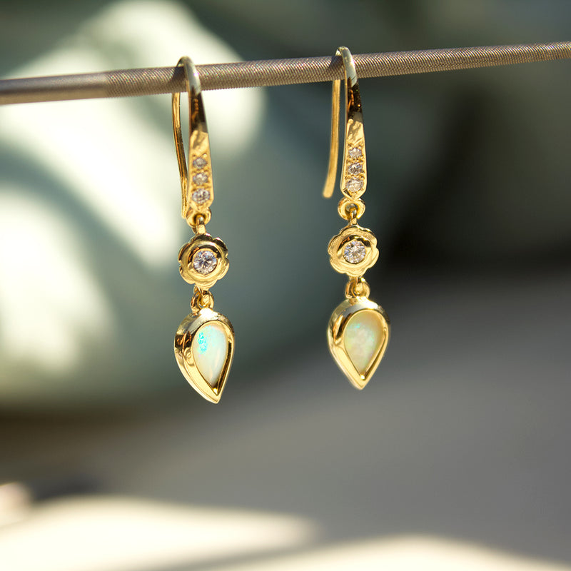 Opal Hanging Earrings