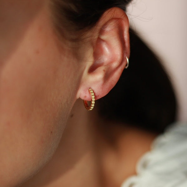 Ethical Hand Made Gold Hoop Earrings
