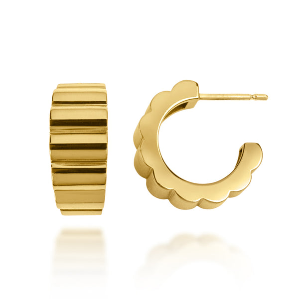 Devi gold hoop earrings