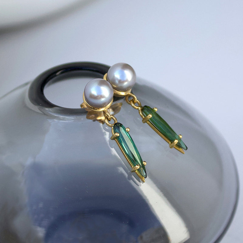 Silver Grey Pearl Earrings