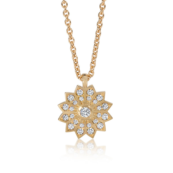 Gold and Diamond Star Pendant