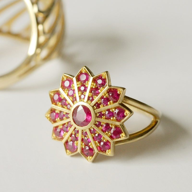 Pusha Ruby Cocktail Ring