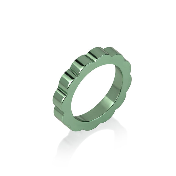 Parrot Green E Coated Ring