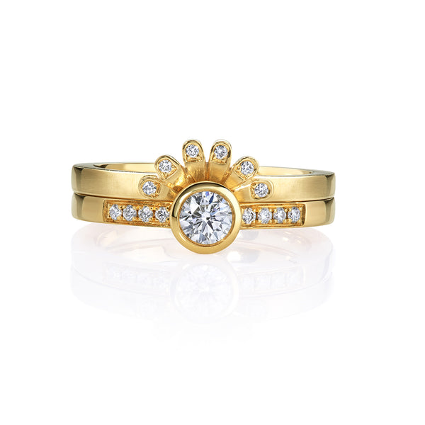 Lakshmi Tiara Ring in Gold and Diamond