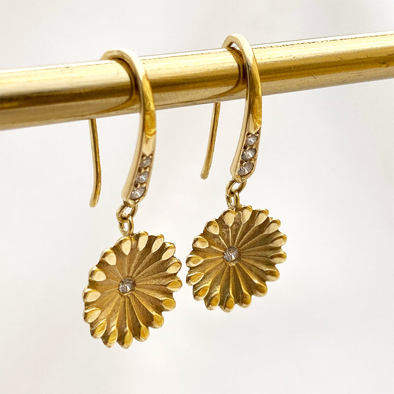 Lotus Hanging Earrings