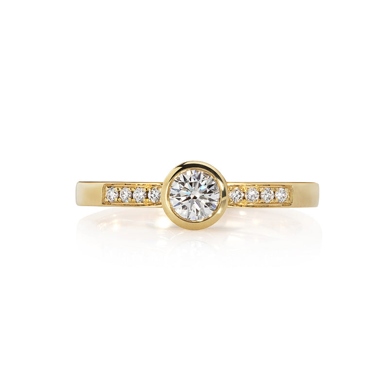 Mor Gold: Brilliant Diamond Solitaire Ring