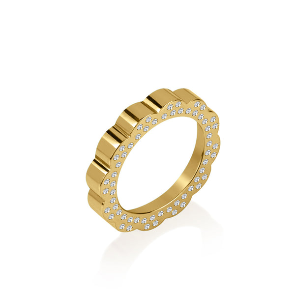 Shakti Gold: Diamond Stacking Ring