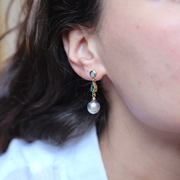Unique Tahitian Pearl Earrings