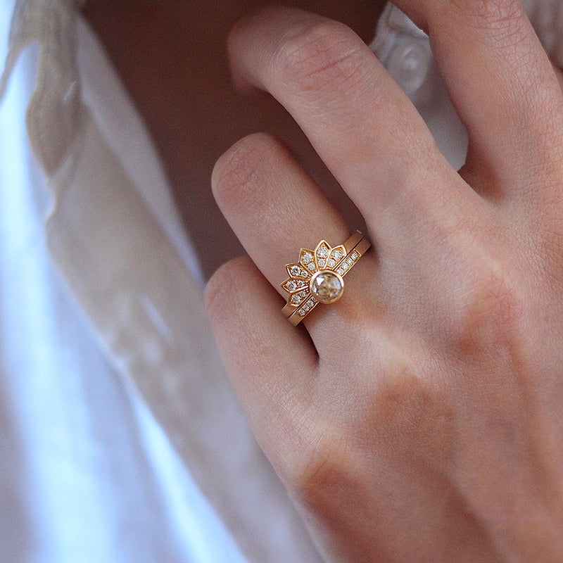 OOAK: Mor Rose Champagne Diamond Solitaire Ring