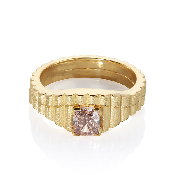 Shakti Pink Diamond and Gold Ring
