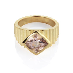 Shakti Morganite Wide Ring