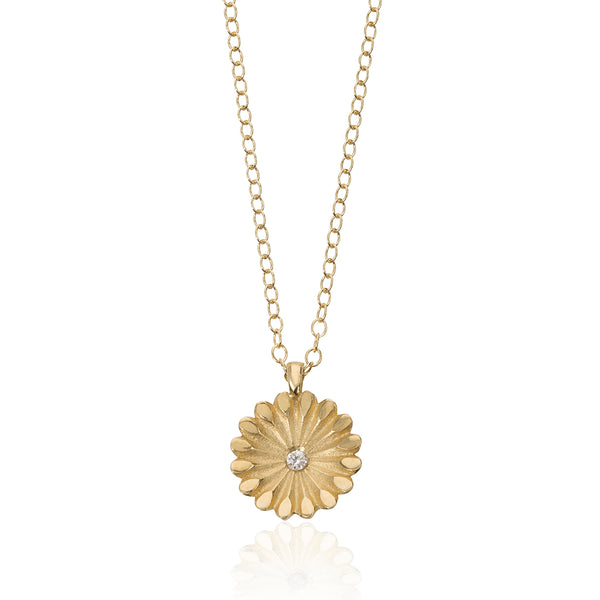Ethical Recycled Gold Diamond Pendant
