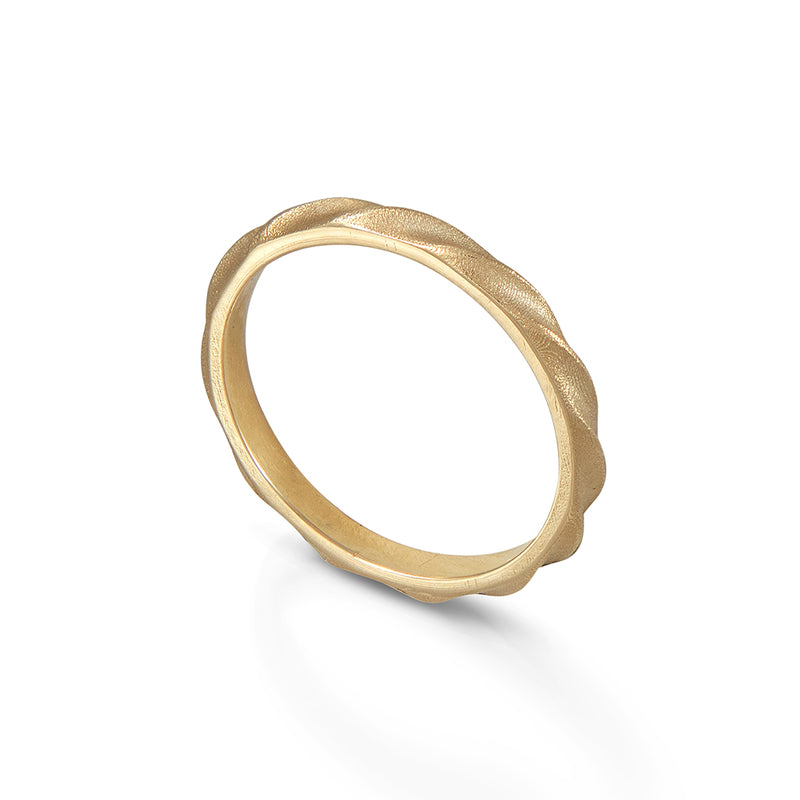 Textured Gold Wedding Band
