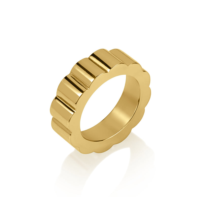 Heavy Yellow Gold Band Ring