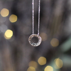 Champagne and White Gold Star Pendant
