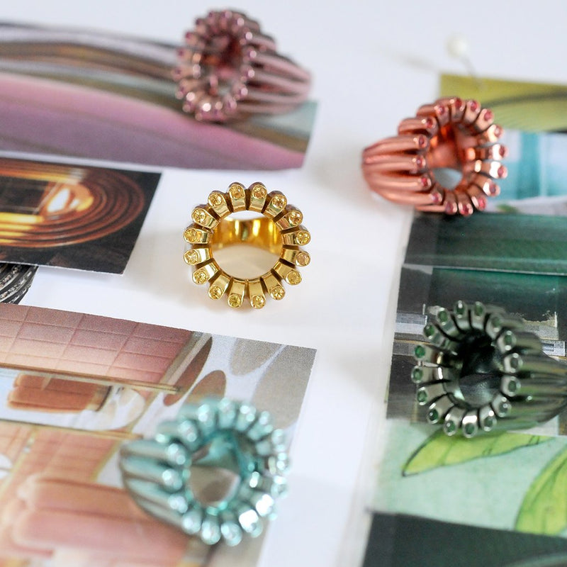 Coloured Cocktail Rings
