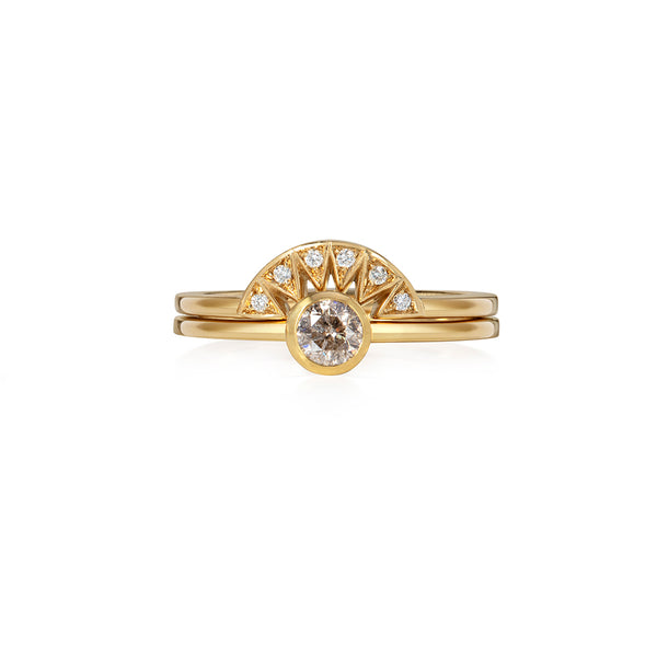 Champagne Round Diamond Ring