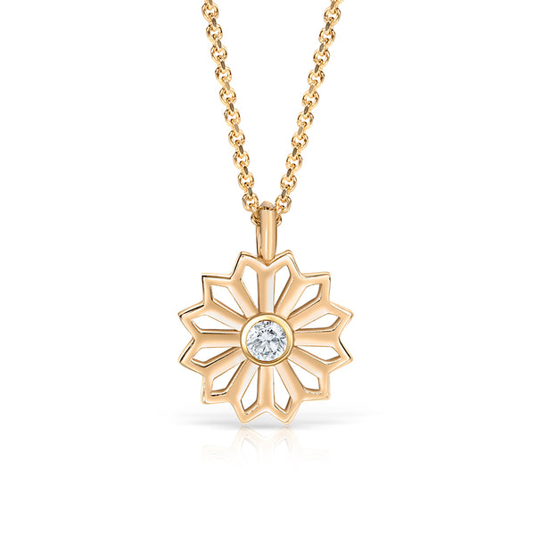 Diamond Gold Star Pendant