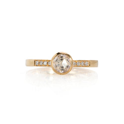 White Rose Cut DIamond Solitaire
