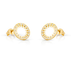Gold and Diamond Taxila Studs