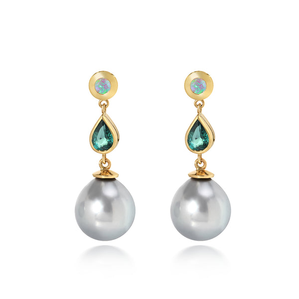 Sustainable Tahitian Pearl Earrings