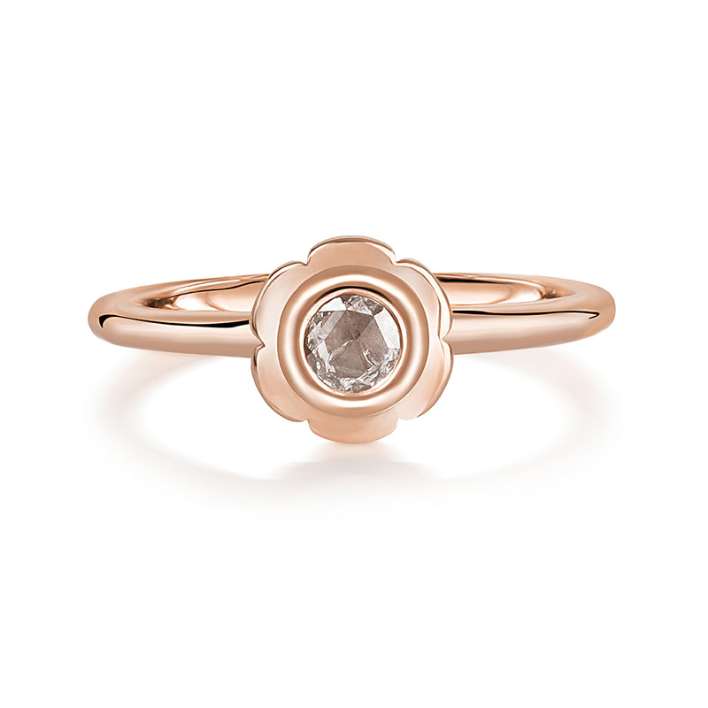 Diamond Pankhuri Rose Gold Ring